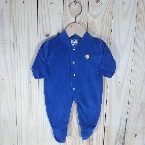 Macacão Plush para Bebê Azul Bic