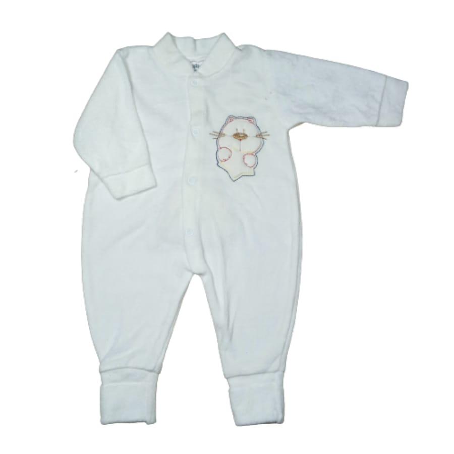 Macacão Plush para Bebê com Bordado