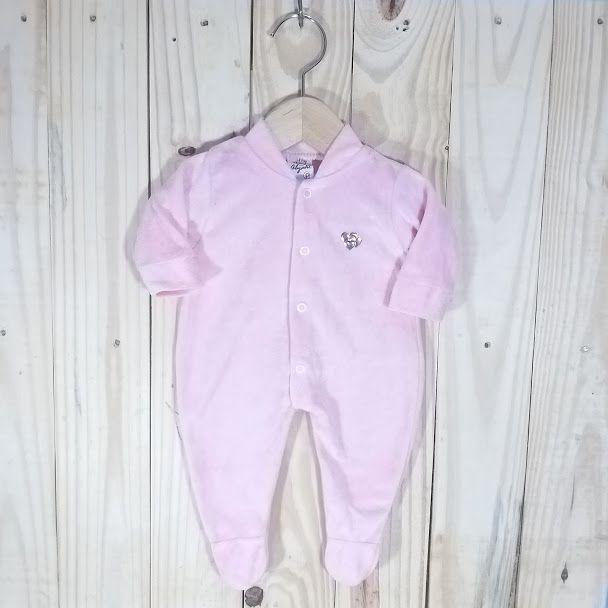 Macacão Plush para Bebê Rosa
