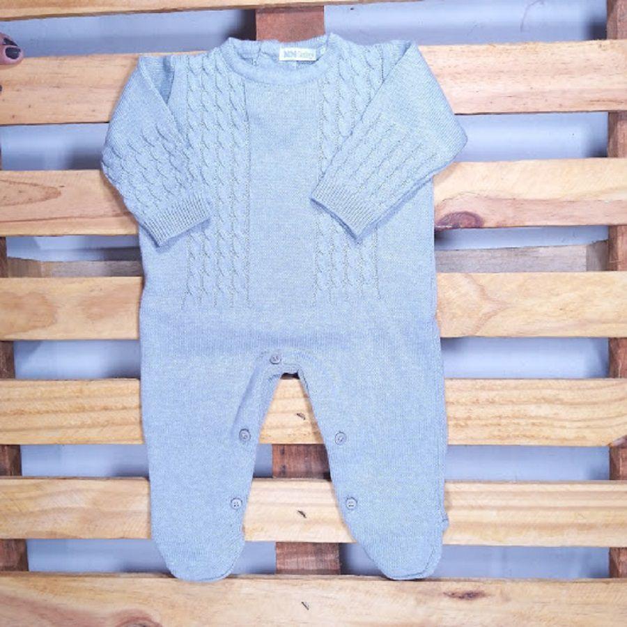 Macacão para Bebê em Tricot Trança