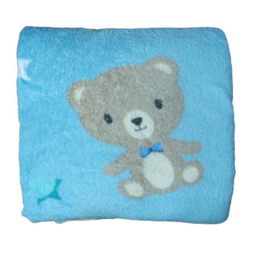 Manta Microfibra para Bebê Azul Bebê
