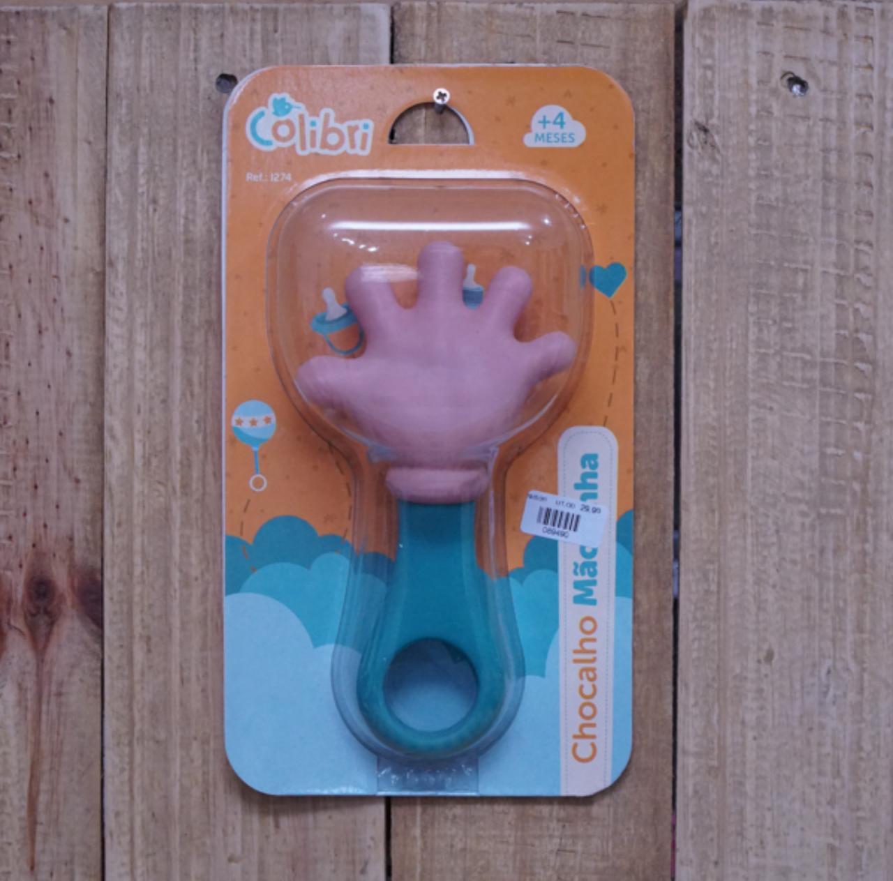 Mordedor Chocalho para Bebê Mãozinha