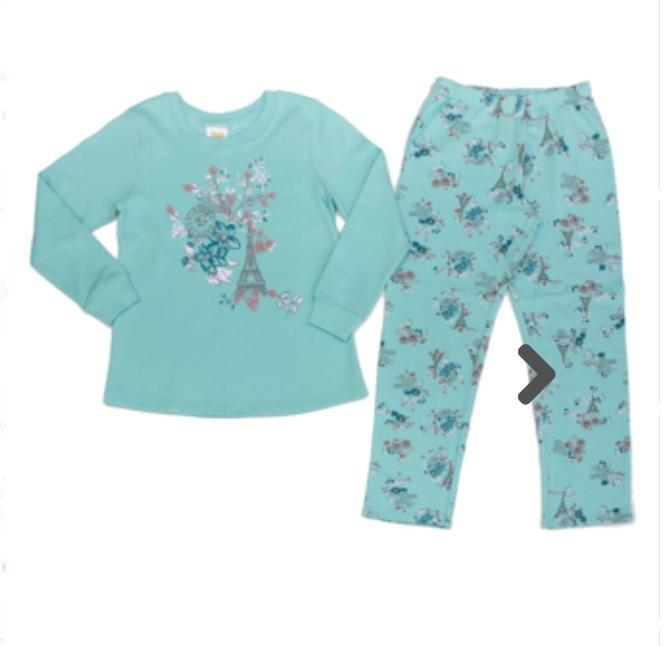 Pijama Infantil  Feminino Flores