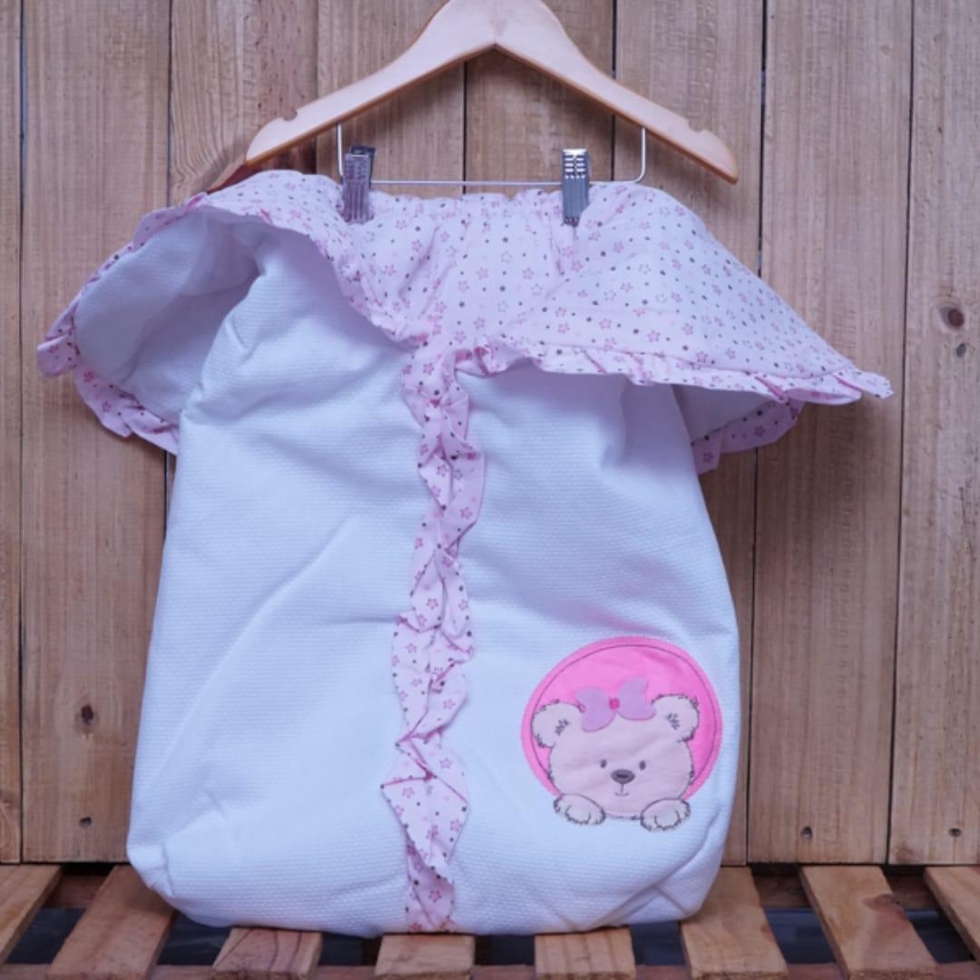 Porta Bebê Estampado Ursa Rosa