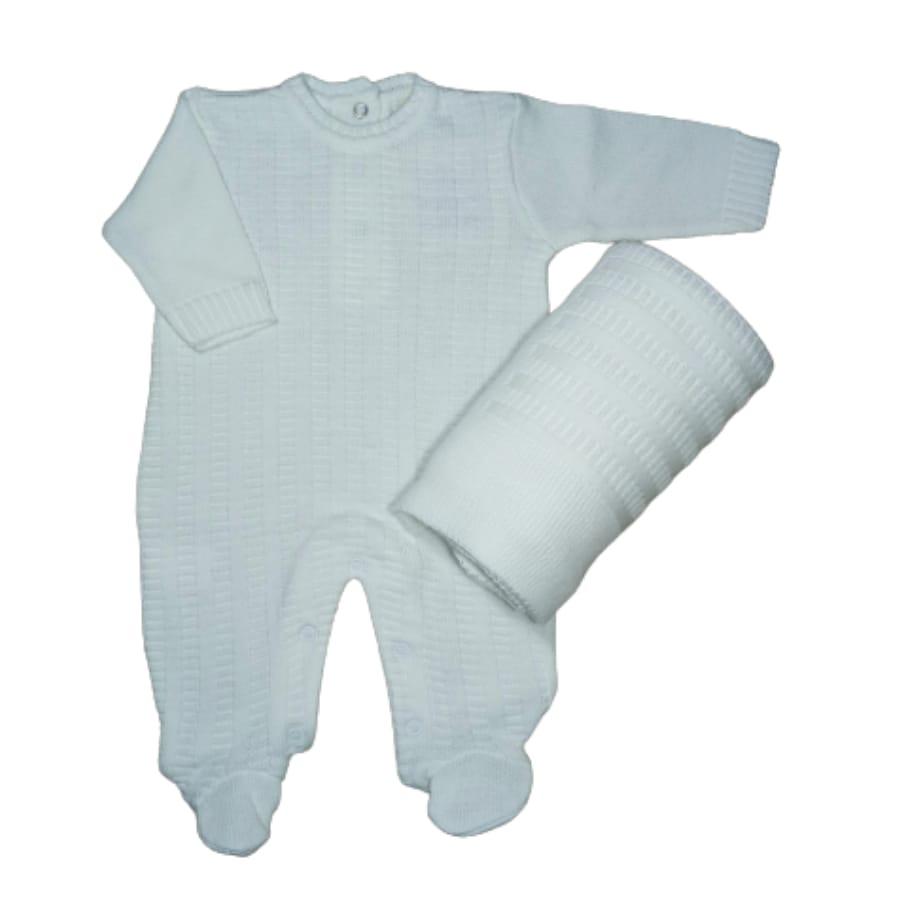 Saída Maternidade para Bebê em Tricot com Detalhes