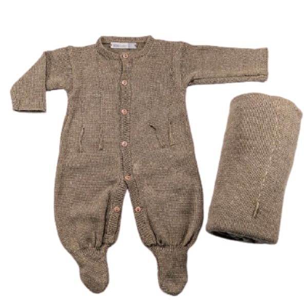 Saída Maternidade para Bebê Tricot Barbante