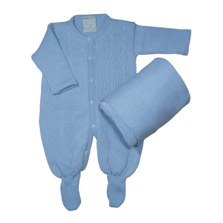 Saída Maternidade para Bebê Tricot Detalhes Trança