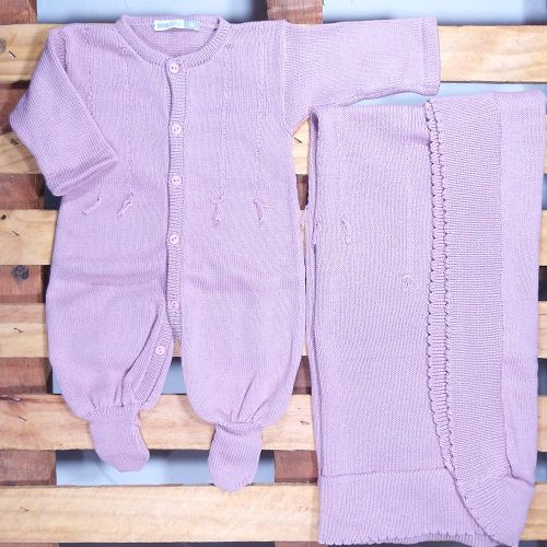 Saida Maternidade para Bebê Tricot modelo Barbante
