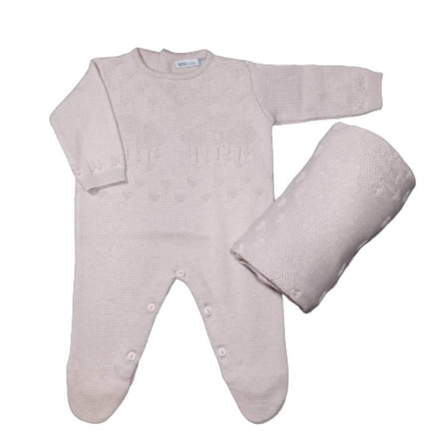 Saída Maternidade para Bebê Tricot Nuvem
