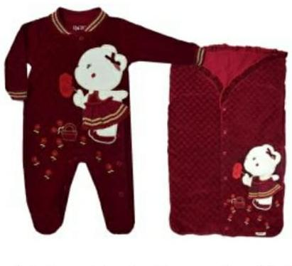 Saída Maternidade para Bebê Ursa Vermelha