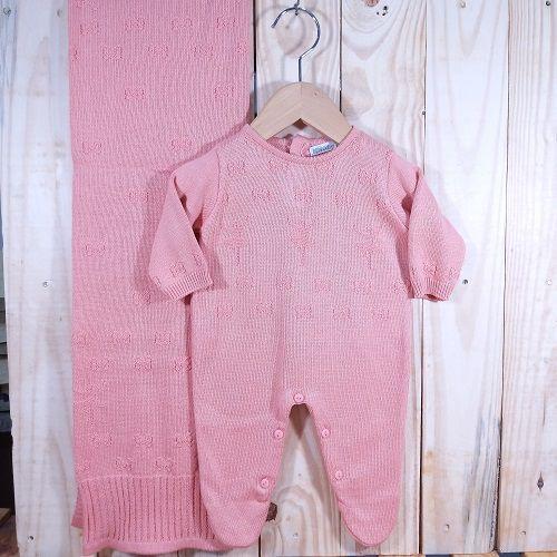 Saida  Maternidade Tricot para Bebê Menina  Bailarina Coral