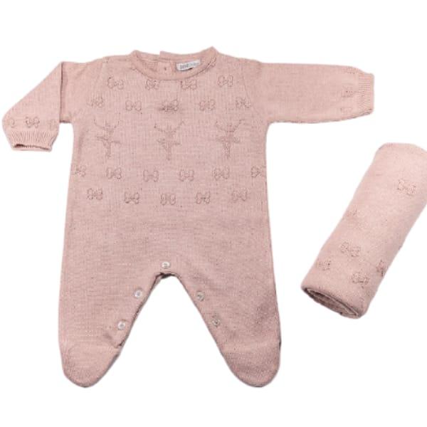 Saída Maternidade Tricot para Bebê Menina Bailarina