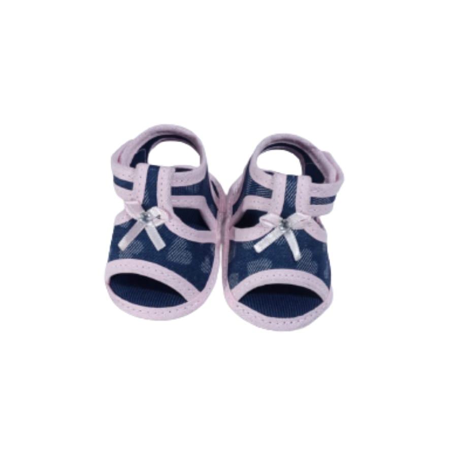 Sandália para Bebê com laço e Velcro 13/14