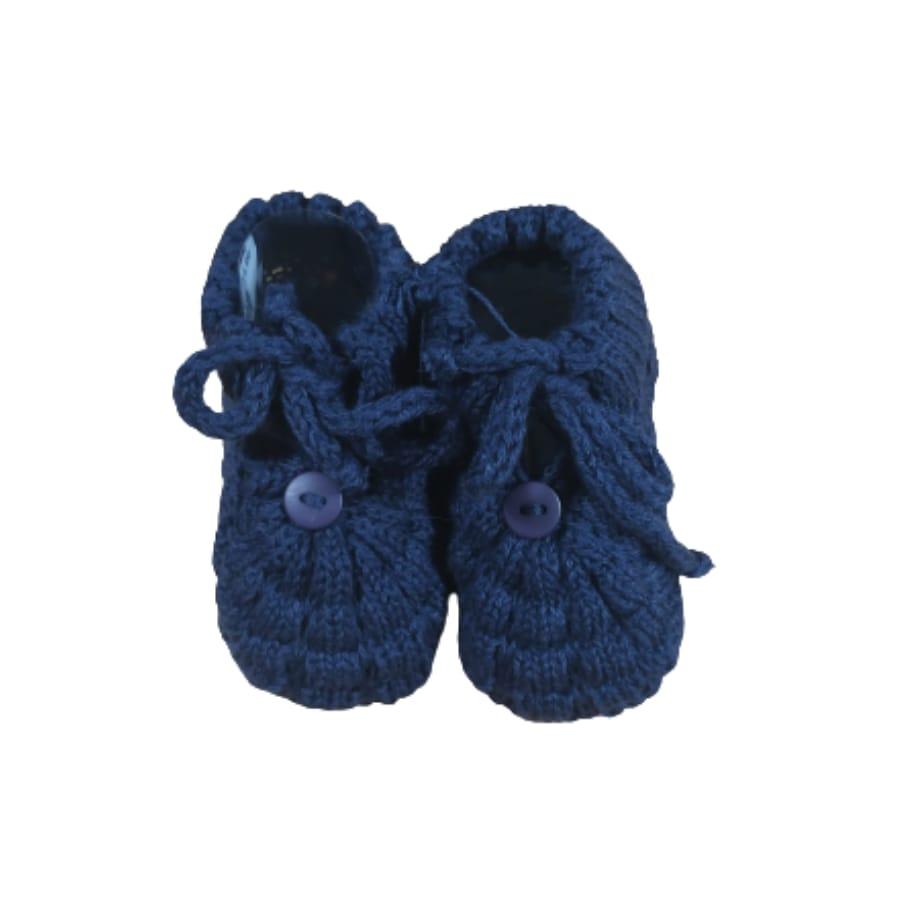 Sapato para Bebê em Tricot com Detalhes