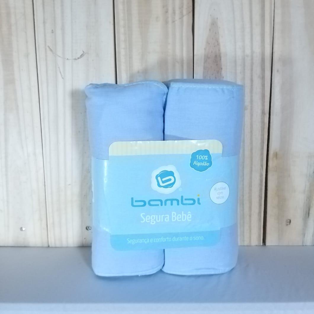 Segura Bebê Tecido Liso Azul