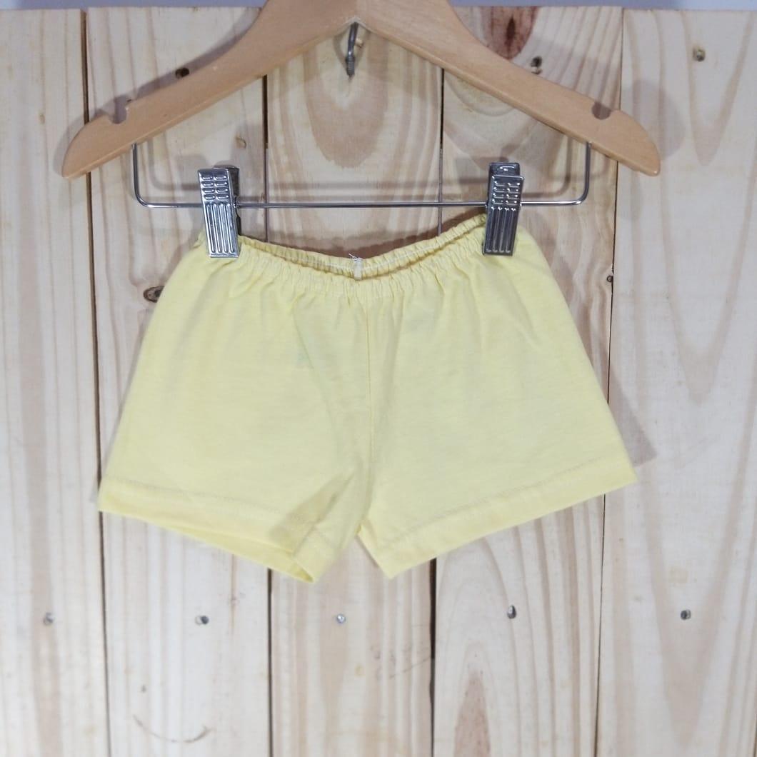 Shorts em Malha para Bebê  Amarelo