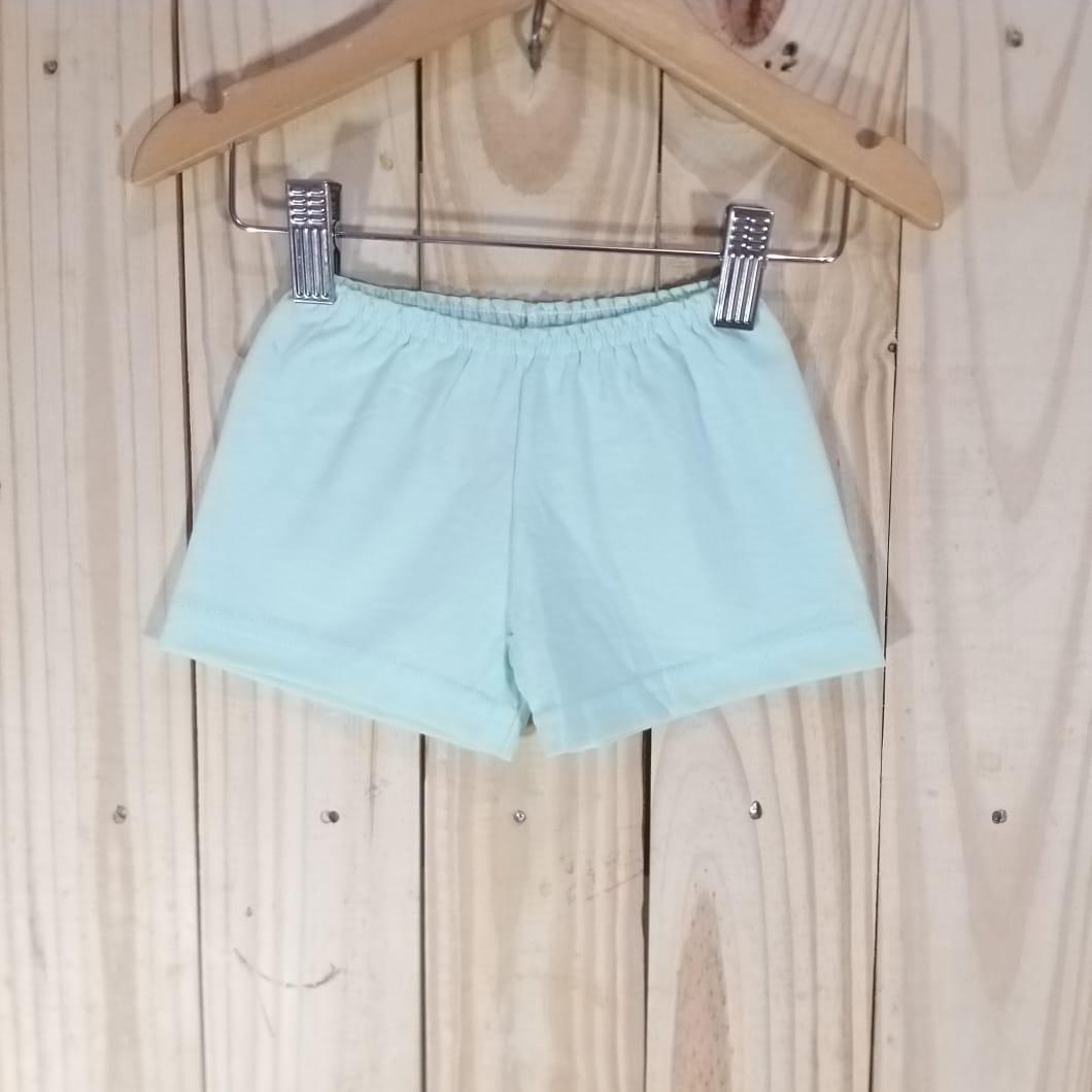 Shorts em Malha para Bebê  Azul