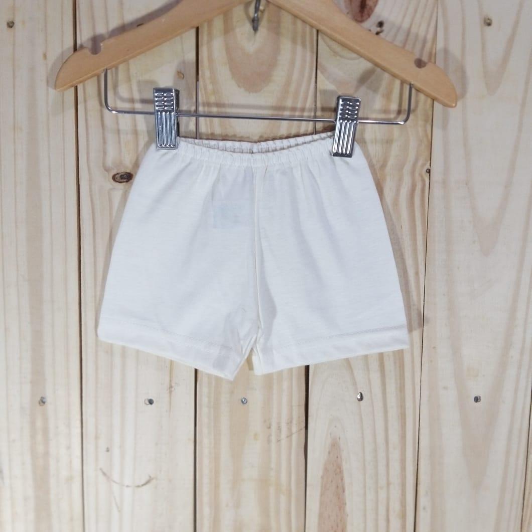 Shorts em Malha para Bebê  Branco