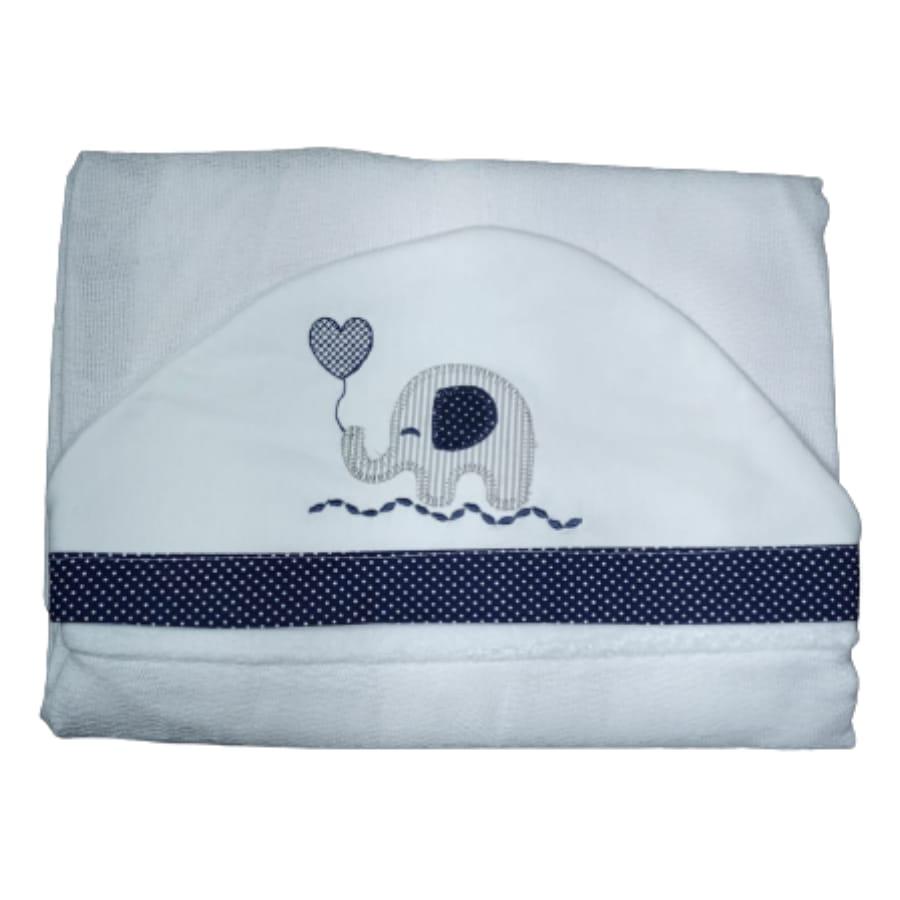 Toalha de Banho para Bebê Elefantinho com Capuz Maxi Dupla