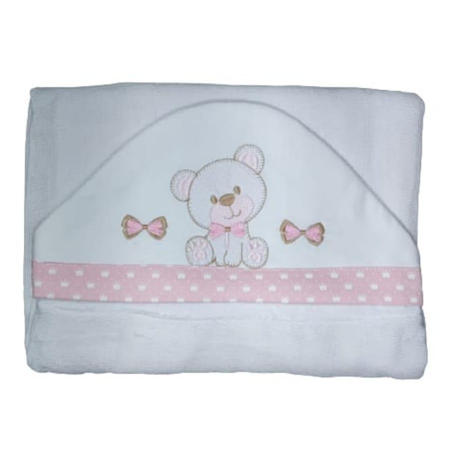 Toalha de Banho para Bebê Ursinho com Capuz Maxi Dupla