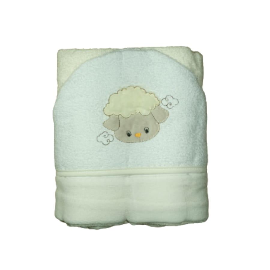 Toalhão para Bebê com Forro de Fralda Capuz Bordado