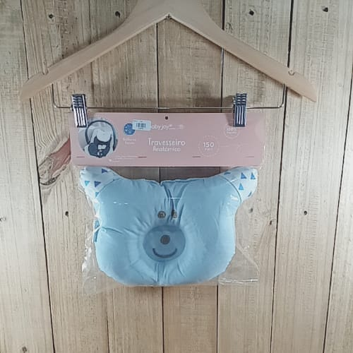 Travesseiro Anatômico para Bebê Azul
