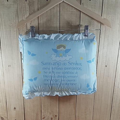 Travesseiro para Bebê Anjinho da Guarda Azul