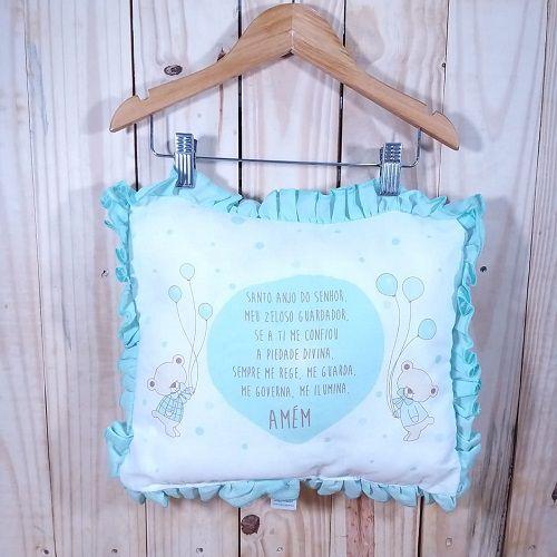 Travesseiro para Bebê Anjinho da Guarda Verde