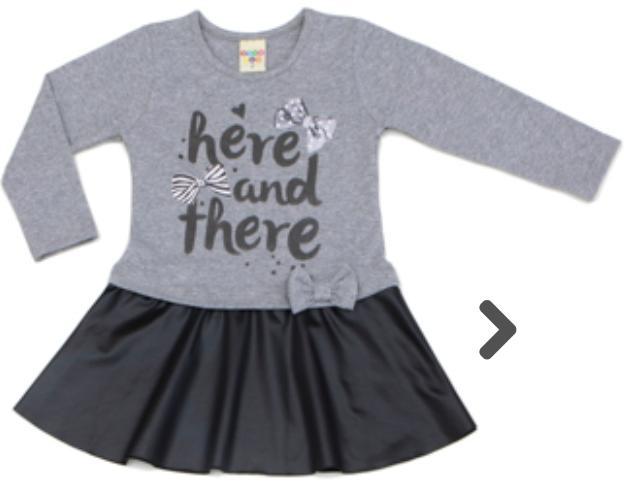 Vestido Infantil Cotton Mescla