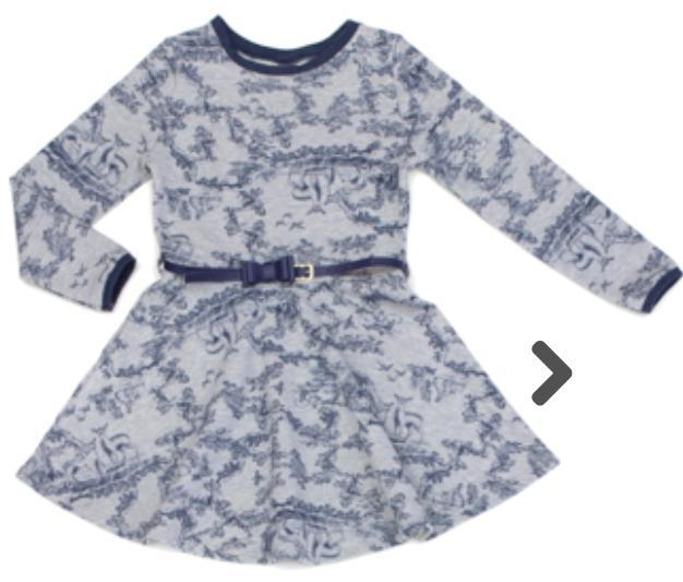 Vestido Infantil Manga Longa  Cotton Mescla Estampado