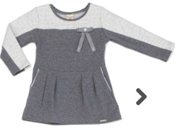Vestido Infantil Moleton Mescla