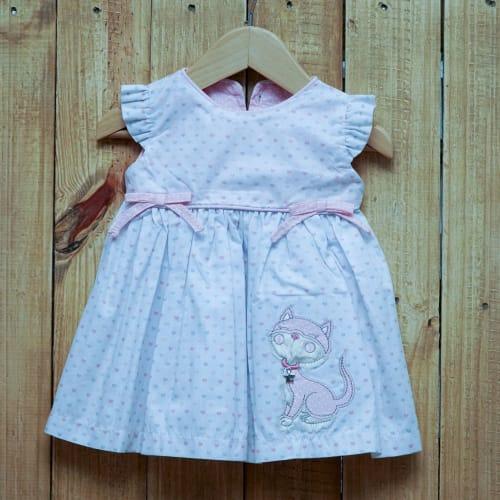 Vestido para Bebê com Calcinha Branco