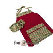 Avental e faixa vermelho
