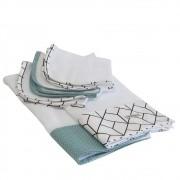 Fralda de ombro e boca kit5