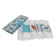 Kit necessaire e toalha higiene