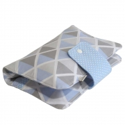 Porta fraldas e lenço umedecido