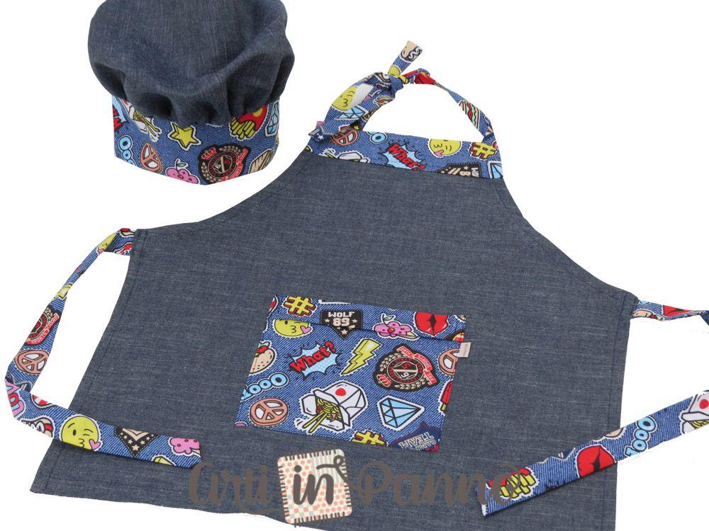 Avental e chapéu juvenil