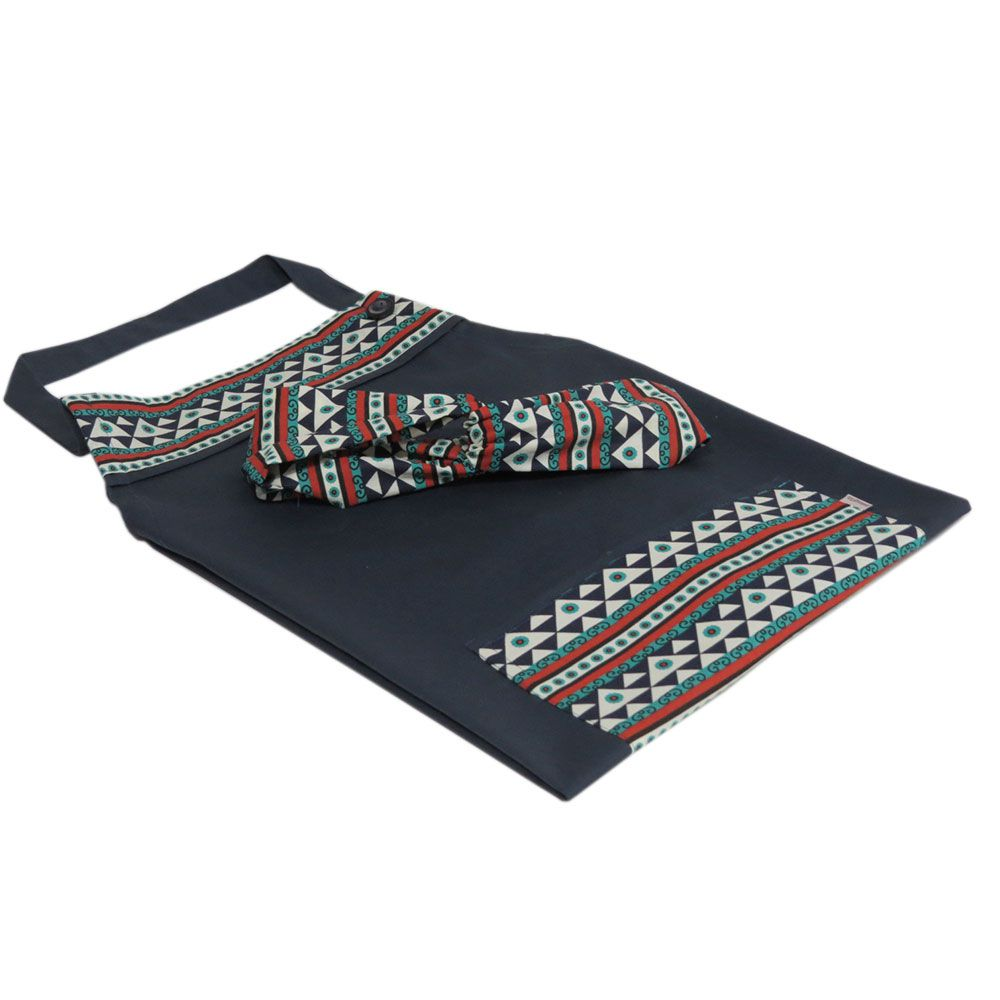 Avental e faixa turbante
