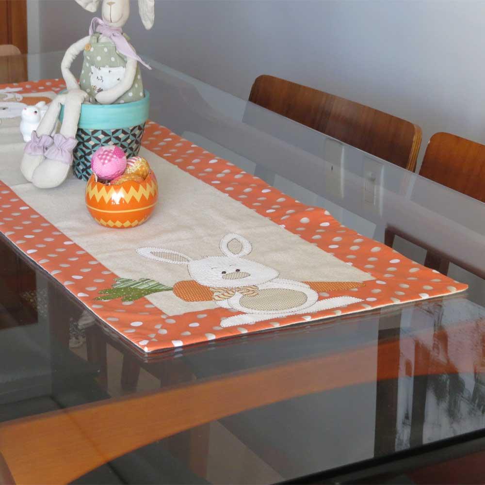 Caminho de mesa em linho Páscoa