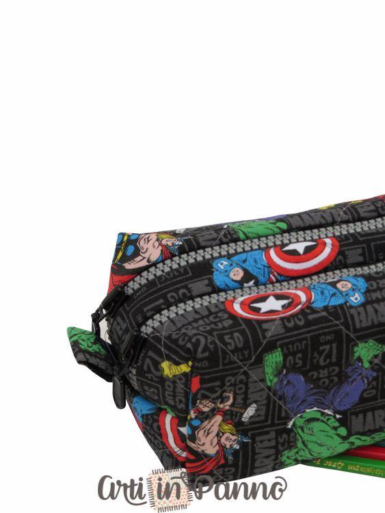 Estojo Avengers duplo