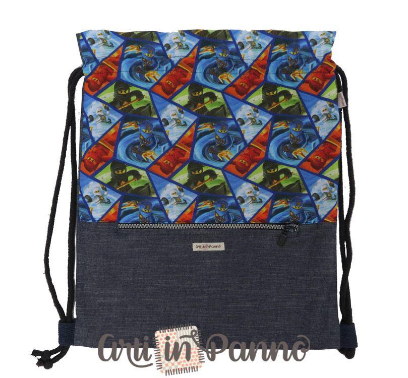 Mochila Saco com bolso