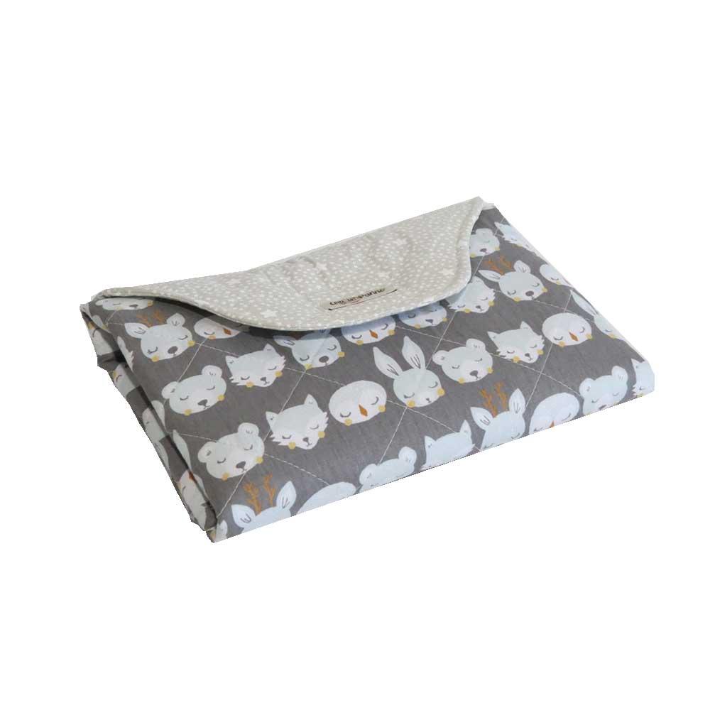Porta fraldas e Trocador em Tecido 100% algodão Cinza Arti In Panno