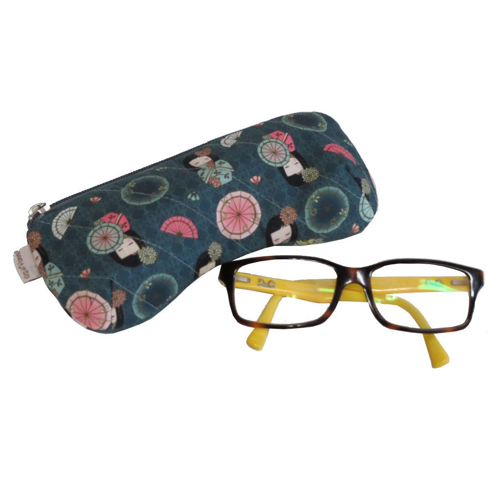 Porta óculos zíper