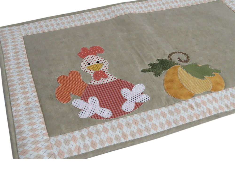 Tapete patchwork bordado