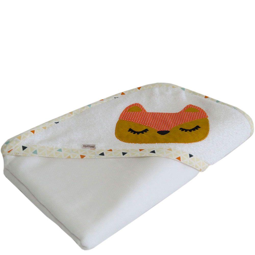 Toalha de banho capuz Bordada