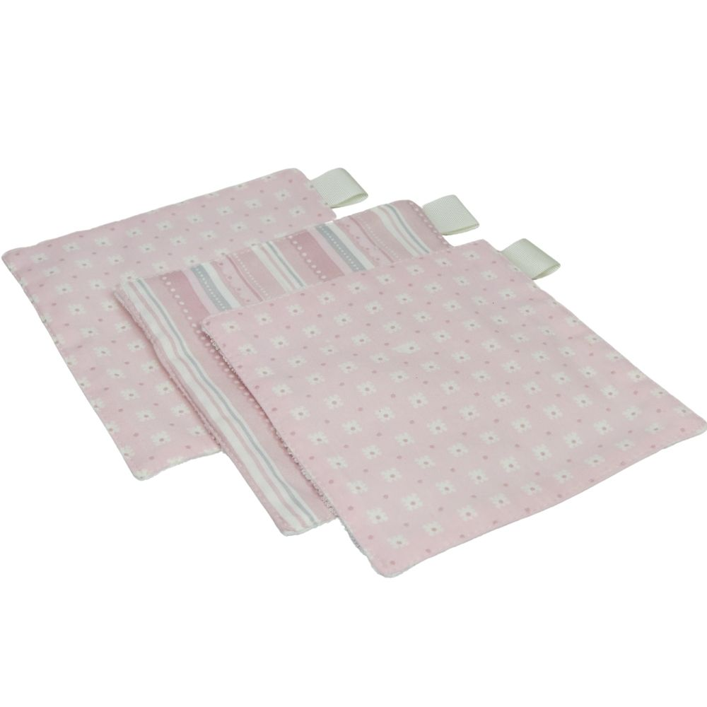Toalha higiene kit6 tons rosa  e cinza