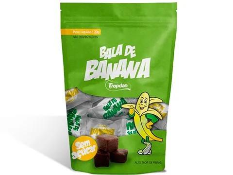 BALA DE BANANA TROPDAN  120 G - UN  - Grão Divino