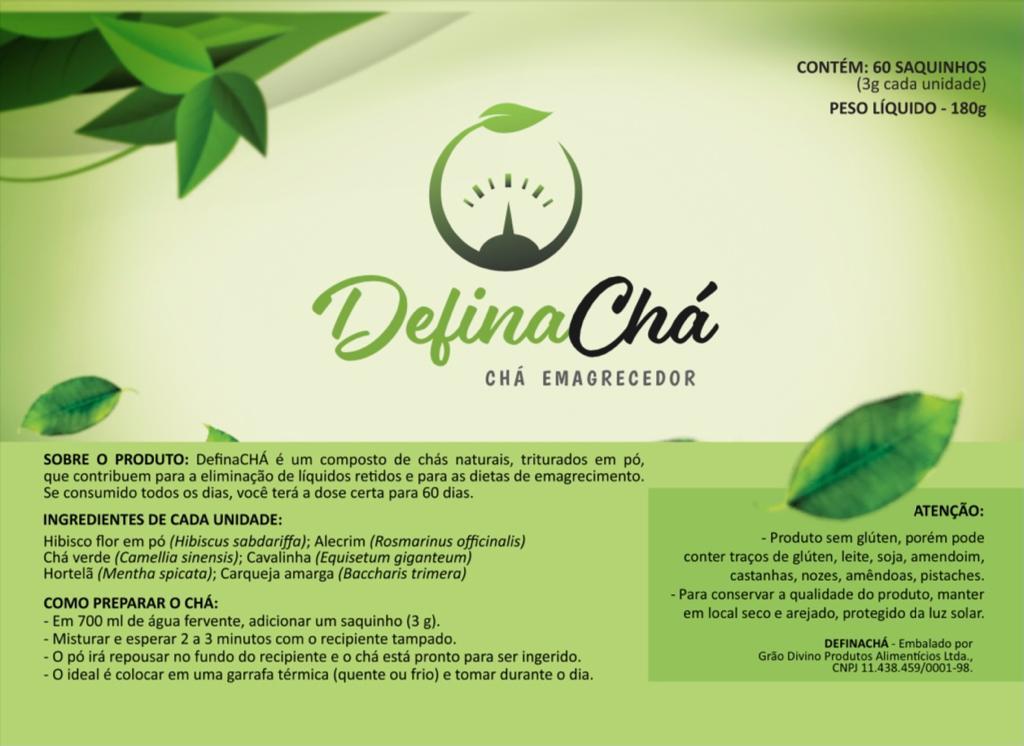 DEFINACHÁ CHÁ EMAGRECEDOR  - Grão Divino