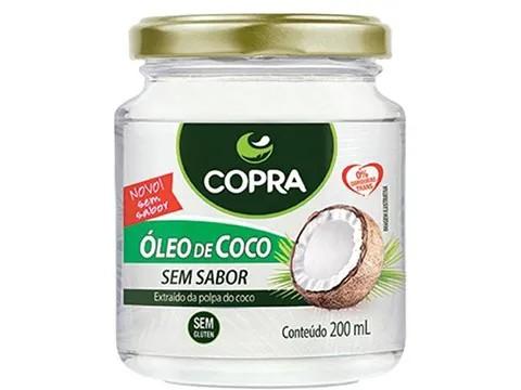 OLEO DE COCO (COPRA) SEM SABOR 200ML  - Grão Divino