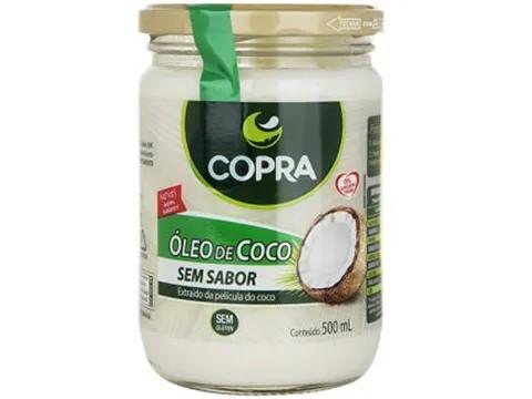 OLEO DE COCO (COPRA) SEM SABOR 500ML  - Grão Divino